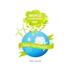 World environment day Green vector image