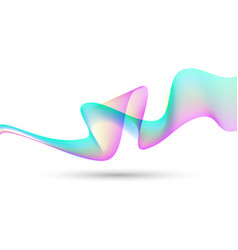 abstract colorful creative wave line background vector image