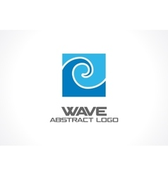 Abstract logo for business company Eco ocean vector image