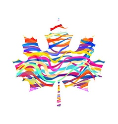 Abstract Maple Leaf Silhouette with Pattern vector image