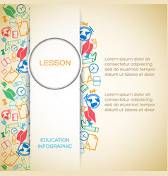abstract school infographic template vector image