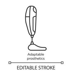 Adaptable prosthetics linear icon missing body vector