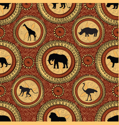 African ethnic seamless pattern abstract vector