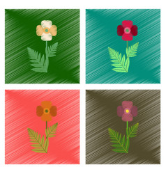 Assembly flat shading style flower vector