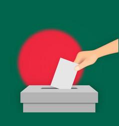 Bangladesh election banner background ballot box vector