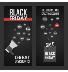 Black friday sale shining vector image