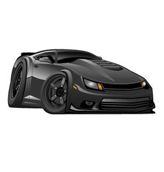 Black Modern American Muscle Car vector image