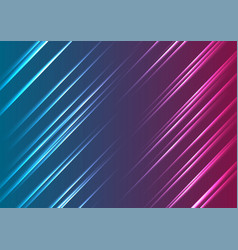 Blue purple glowing neon lines abstract background vector