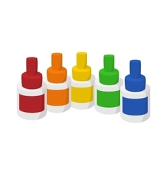 Bottles of flavor for electronic cigarette icon vector