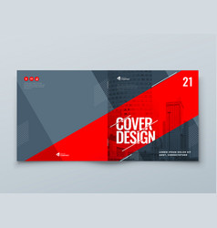 Catalog template layout design corporate business vector