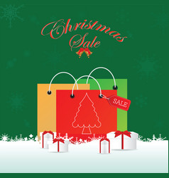 christmas shopping bag with gifts vector image