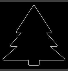 Christmas tree the white path icon vector