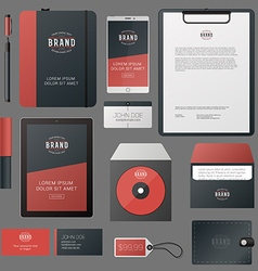 Classic corporate identity template design with vector