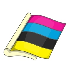 CMYK color icon cartoon style vector image