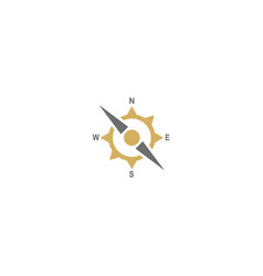 compass arrow direction logo vector image