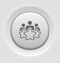 Customer experience line icon vector