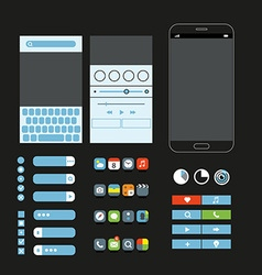 Different graphic elements set Modern smartphone vector