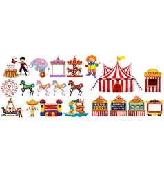 Different objects from the circus vector image