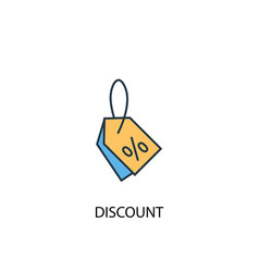 discount concept 2 colored icon simple blue vector image