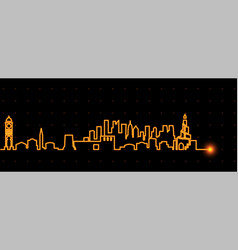 doha light streak skyline vector image