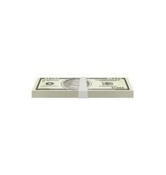 dollar banknotes bundle isolated isometric icon vector image