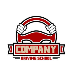 driving exercise logo design vector image