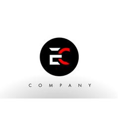 Ec logo letter design vector