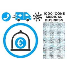 Euro Standard Icon with 1000 Medical Business vector