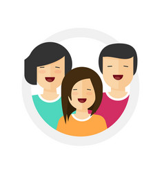family happy fun portrait icon vector image