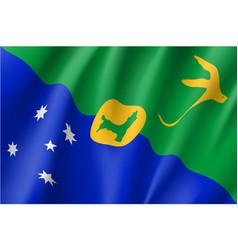 flag of christmas island vector image