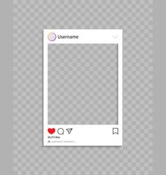 Frame for social post frame for photo in social vector