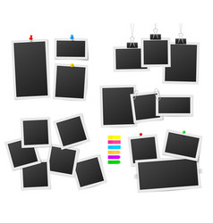 frames and pins photos frame collage sticker vector image