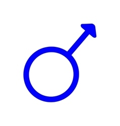 Gender sign spear and shield of Mars 410 vector image