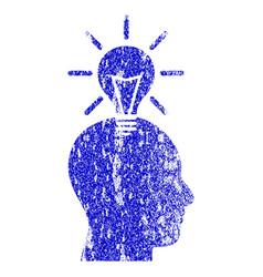 Genius bulb grunge textured icon vector