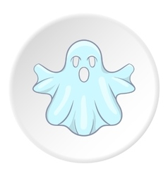 Ghost icon cartoon style vector