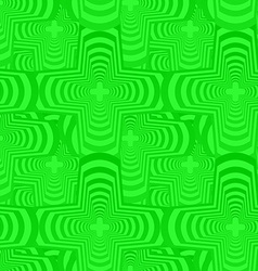 Green seamless curved polygon pattern background vector