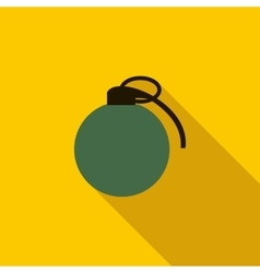 Grenade army weapon icon flat style vector