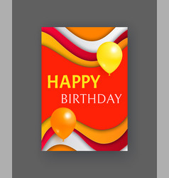 happy birthday party invitation or greeting card vector image