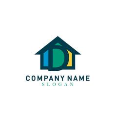home letter d design vector image
