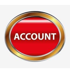 Icon account profile button vector