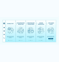 Intermittent fasting benefits onboarding template vector