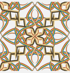 intricate celtic style seamless pattern vintage vector image