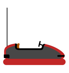 Isolated bumper car vector