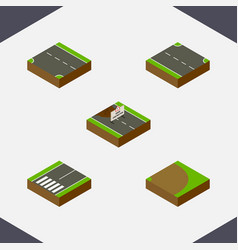 Isometric road set of repairs rotation vector