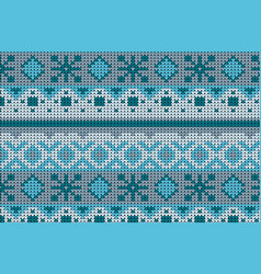 Knitted sweater winter pattern vector