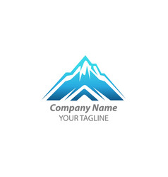 Latter a mountain logo design mountain logo vector