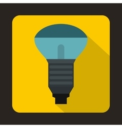 LED bulb icon in flat style vector image