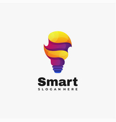 Logo smart gradient colorful style vector