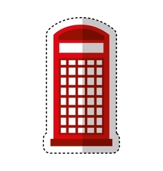 London telephone booth isolated icon vector image