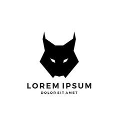 Lynx head black logo icon download vector